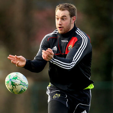 Johne Murphy training with the Munster squad