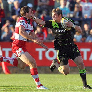 Munster debutant Johne Murphy in action against Gloucester