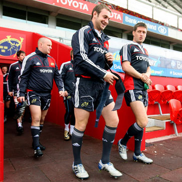 Johne Murphy and Ronan O'Gara at Thomond Park