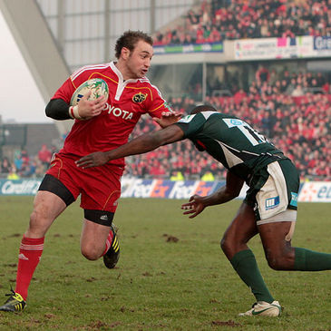Johne Murphy in action against London Irish