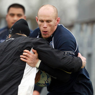 Johnny O'Connor training with the Connacht squad