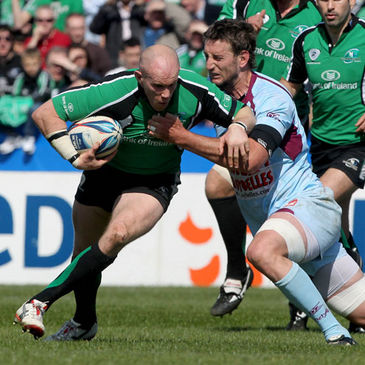 Connacht's Johnny O'Connor in action against Bourgoin