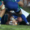 Ireland-capped flanker Johnny O'Connor presents the ball at a ruck as Connacht get off to a positive start in Parma