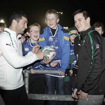 Rob Kearney and Jonathan Sexton