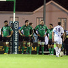 The disappointment is obvious for the Connacht players as they wait for Jonathan Sexton's conversion attempt, which was the final kick of the game