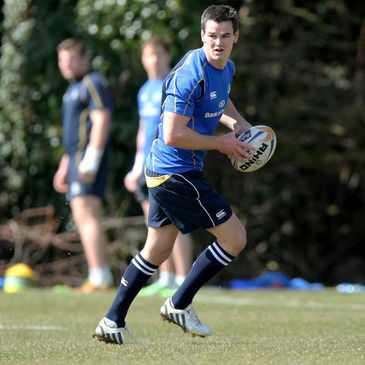 Jonathan Sexton training with the Leinster squad