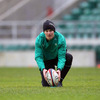 On the eve of his first RBS 6 Nations start, Ireland out-half Jonathan Sexton lines up a place-kick at Twickenham