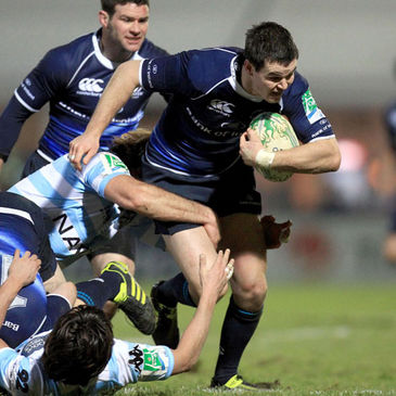 Leinster's top scorer Jonathan Sexton leads an attack