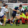 Out-half Jonathan Sexton played a key role as Leinster caught Clermont Auvergne cold with a third minute try