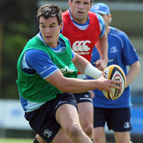 Jonathan Sexton in pre-season training with Leinster
