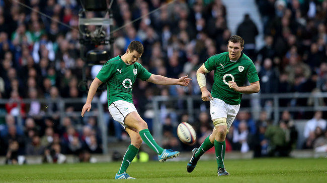 Ireland's Jonathan Sexton and Peter O'Mahony