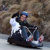 Jonathan Sexton was a happy man as he cruised around on the three-wheeled polythene cart