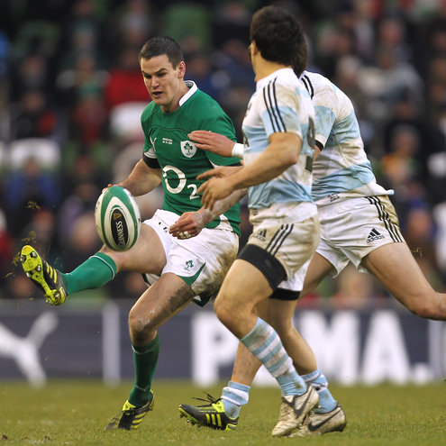 Jonathan Sexton in action against Argentina in November 2010