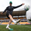 Jonathan Sexton and Ronan O'Gara took to Mt Smart Stadium in Auckland to get some kicking practice in ahead of Saturday's showdown with Australia
