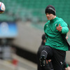 Jonathan Sexton practices his line-kicking as he prepares for Saturday's RBS 6 Nations showdown with England