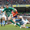 Influential out-half Jonathan Sexton sliced through to score Ireland's second try on the quarter hour mark
