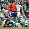 South African referee Craig Joubert was well-placed to award Jonathan Sexton his first international try