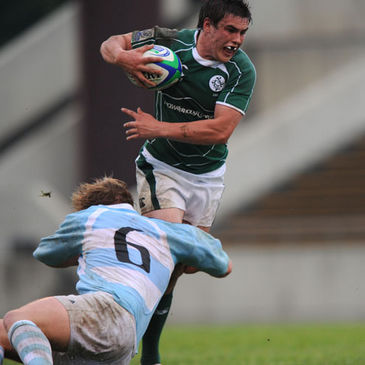 Jonny Shiels in action for the Irish Under-20s against Argentina
