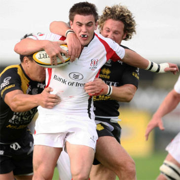 Ireland Under-20 international Jonny Shiels in action for Ulster