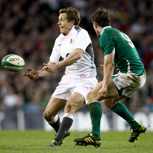 England's Jonny Wilkinson in action against Ireland