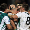 Ireland's first try scorer was mobbed by his team-mates after the Baby 'Boks leaked the first try of the match in Stellenbosch