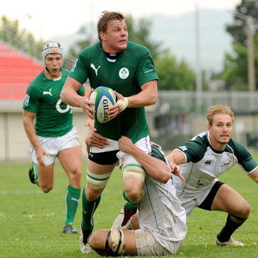 Jordi Murphy in action for Emerging Ireland
