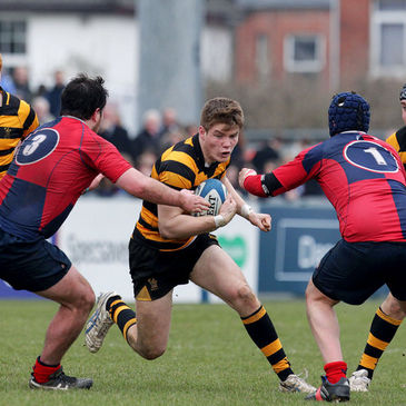 Josh Atkinson in action for RBAI