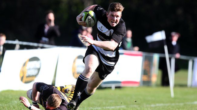 Josh Glynn makes a break for Old Belvedere