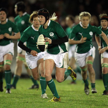 Number 8 Joy Neville in action for Ireland