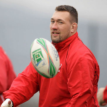 Justin Fitzpatrick training with Ulster earlier this year