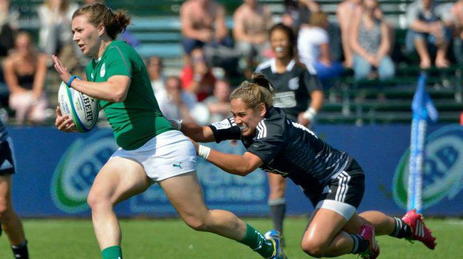 Katie Fitzhenry was Ireland's try scorer against New Zealand