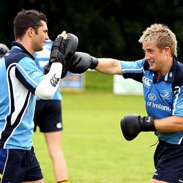 Leinster's Rob Kearney and Luke Fitzgerald