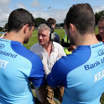 The Kearney brothers are interviewed at Dundalk RFC