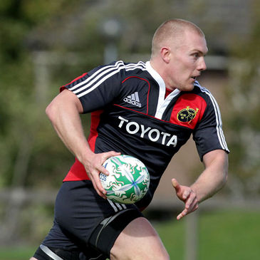 Keith Earls training with the Munster squad