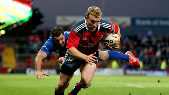 Keith Earls in action for Munster