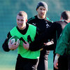 Keith Earls, one of the main injury concerns with a 'sore shoulder', was able to train with his team-mates this morning