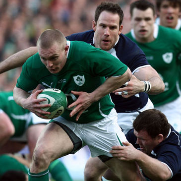 Ireland winger Keith Earls in action against Scotland