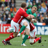Keith Earls, who had scored four tries in his last two games, lost possession under pressure from Welsh forwards Gethin Jenkins and Luke Charteris