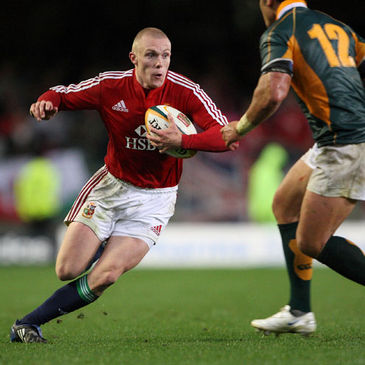 Keith Earls leads a counter attack for the Lions