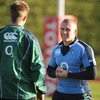 Squad newcomer Keith Earls shares a joke with his fellow 21-year-old Luke Fitzgerald