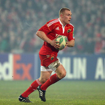 Keith Earls in Heineken Cup action for Munster