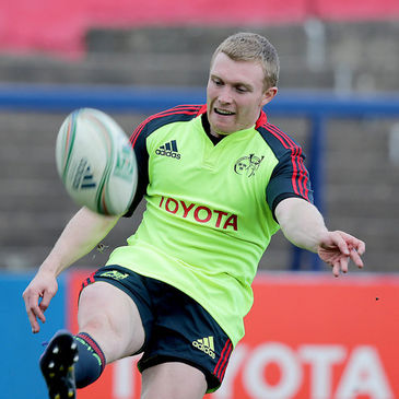 Keith Earls training ahead of the Heineken Cup semi-final