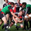 Keith Earls goes to ground as the players take part in a training exercise at Thomond Park