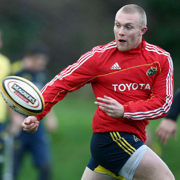 Munster speedster Keith Earls