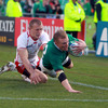Keith Earls' well-taken score was his first for Ireland since he dotted down twice against Wales in the 2010 Six Nations Championship