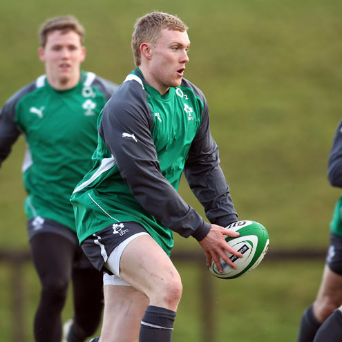 Keith Earls training with the Ireland squad