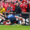 Keith Earls broke free from Isa Nacewa and stretched over past Shane Horgan and Brian O'Driscoll to score