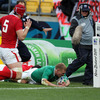 Ireland hit back early in the second half with a try in the left corner from Keith Earls which was confirmed by television match official Giulio De Santis
