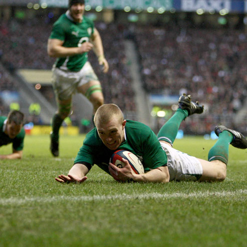 Keith Earls notches his first RBS 6 Nations try