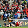 A cross-field kick from Ronan O'Gara teed up Keith Earls for Munster's second try
